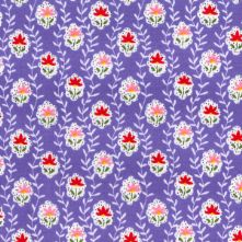 60% OFF Cotton Lilac Floral Cameo Vintage Print Fabric x 0.5m